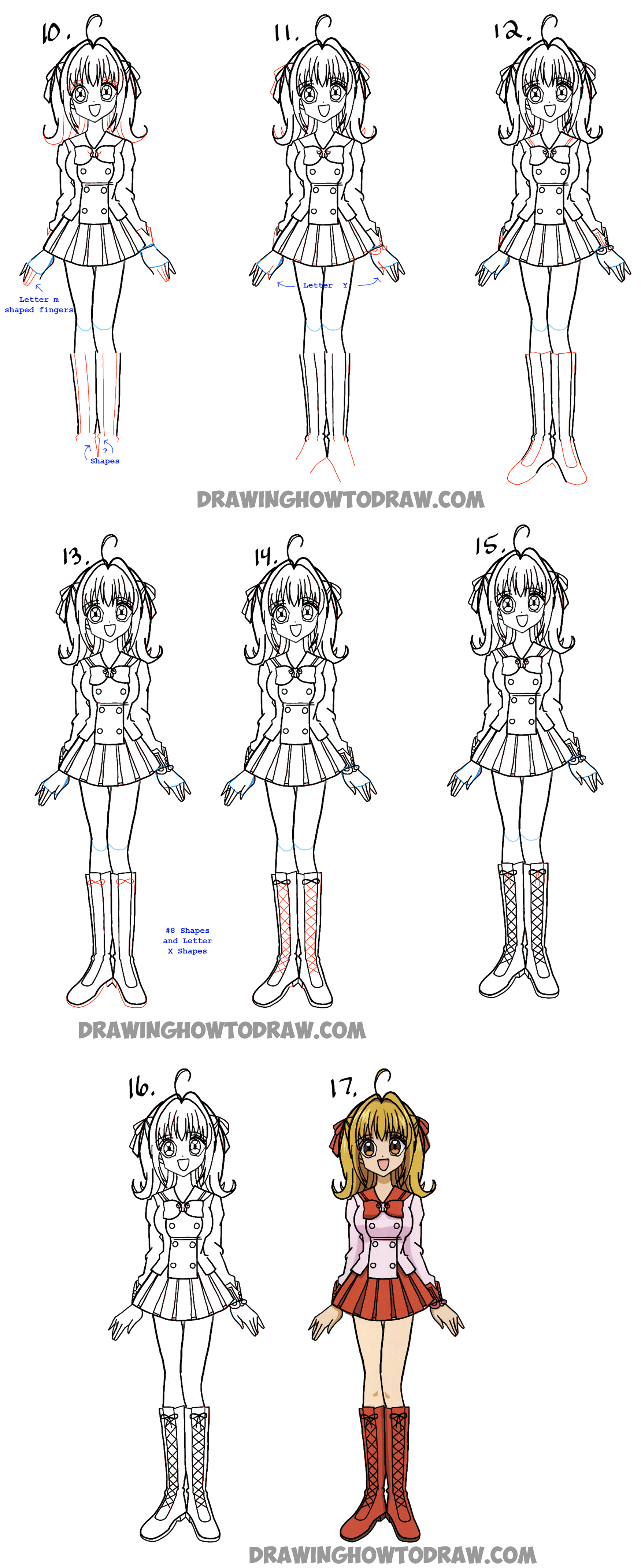 Learn How To Draw Lucia Nanami From Mermaid Melody  Easy Steps Drawing  Manga Lesson For
