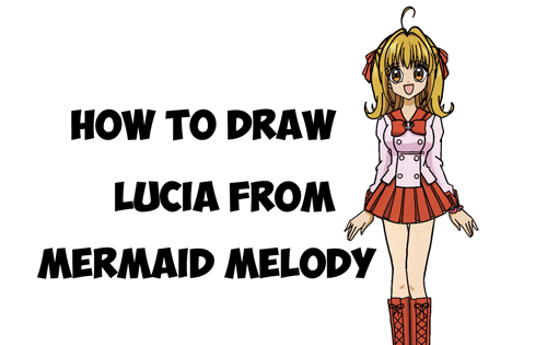 Learn How to Draw Lucia Nanami from Mermaid Melody - Easy Steps Drawing Manga Lesson for Kids