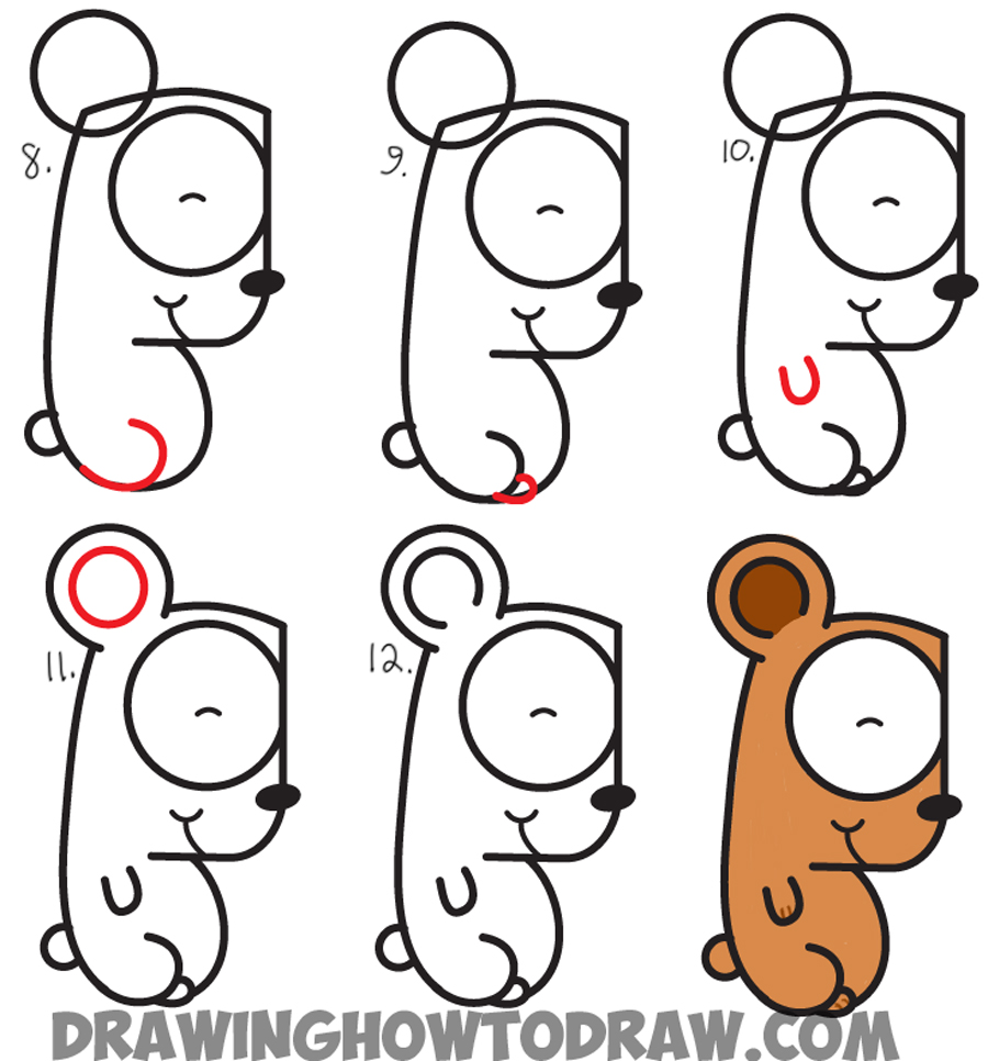 Learn How to Draw Cartoon Bear Cub from Letter g - Simple Steps Drawing Lesson for Kids