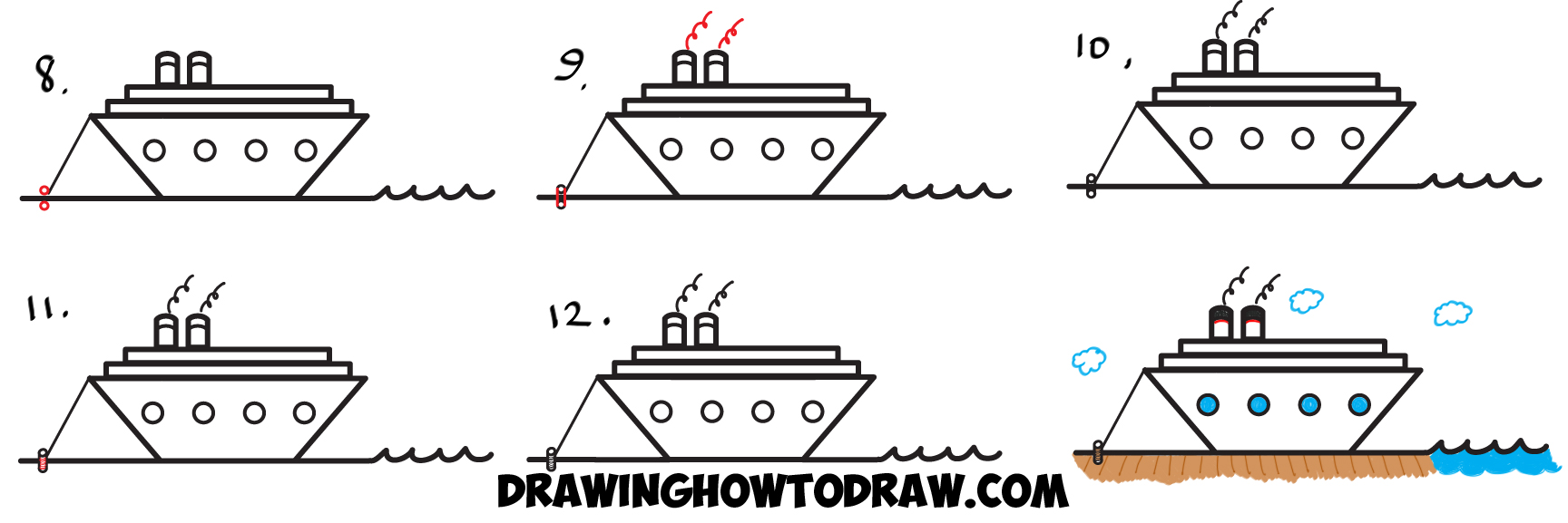 howtodraw cartoon ship letter z drawing tutorial