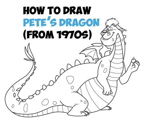 Learn How to Draw Elliot from Disney's Cartoon Version of Pete's Dragon - Easy Step by Step Drawing Tutorial