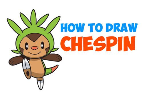 How to Draw Chespin from Pokemon Easy Step by Step Drawing Tutorial