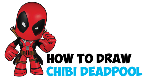 Charming How To Draw Chibi Deadpool Easy Step By Step Drawing Tutorial   How To Draw  Step By Step Drawing Tutorials