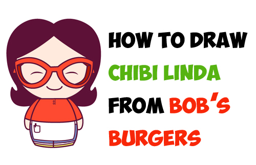 How to Draw Kawaii Chibi Linda (Mom) from Bob's Burgers - Easy Steps Tutorial