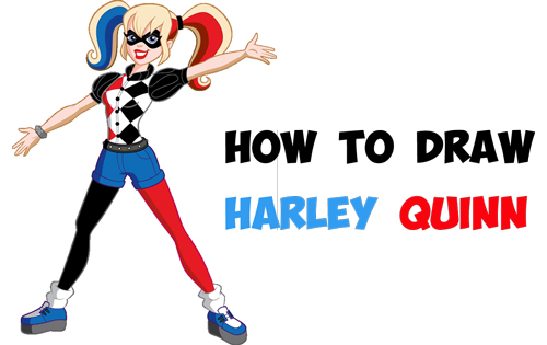 Learn How to Draw Harley Quinn from DC's Suicide Squad - Simple Steps Comic Book Version Drawing Lesson