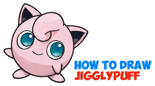 how to draw jigglypuff from pokemon easy step by step drawing