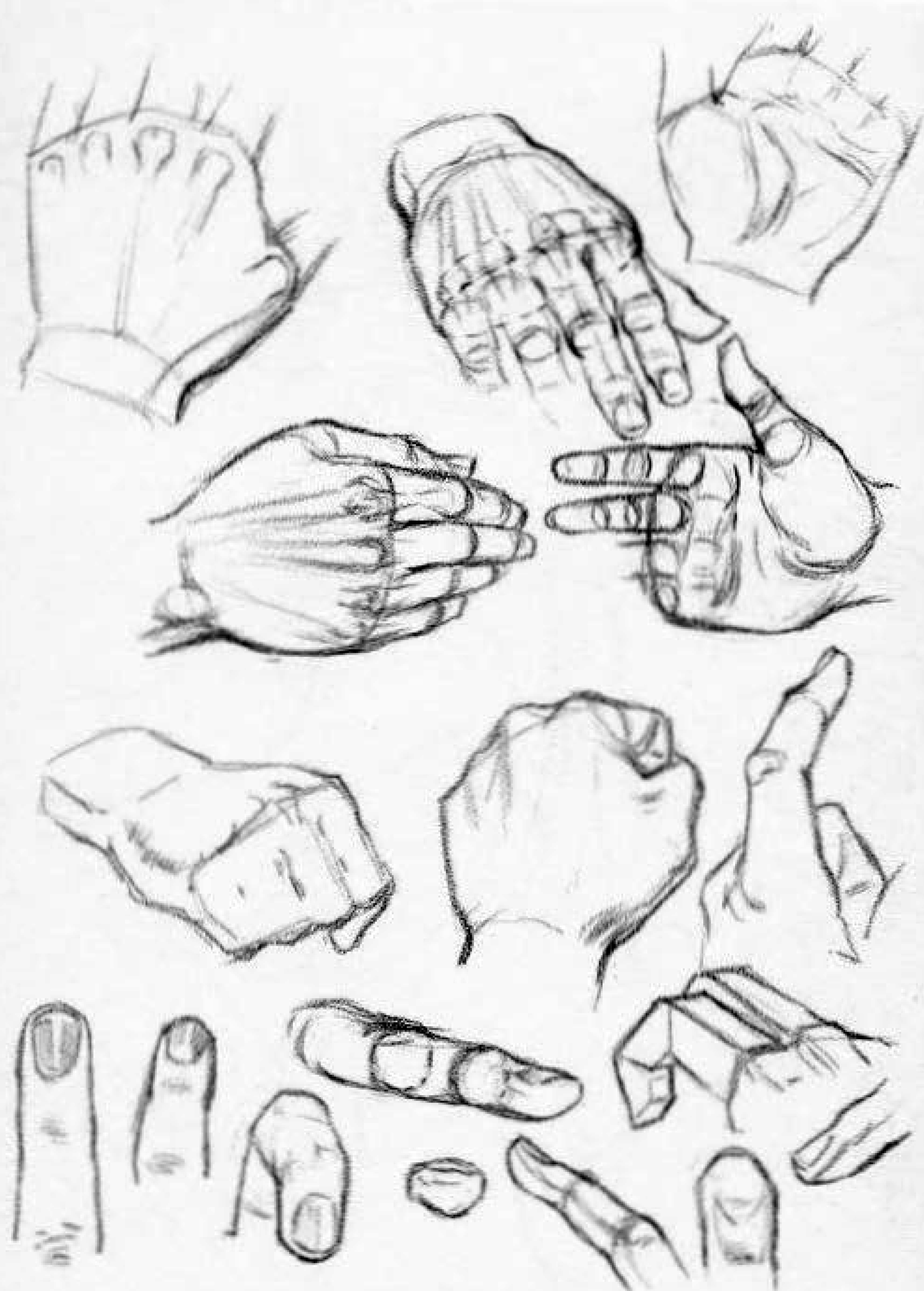 how to draw the knuckles of the hands