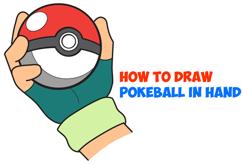 How to draw pokeball in ashs hand step by step pokemon drawing tutorial how to draw step by step drawing tutorials