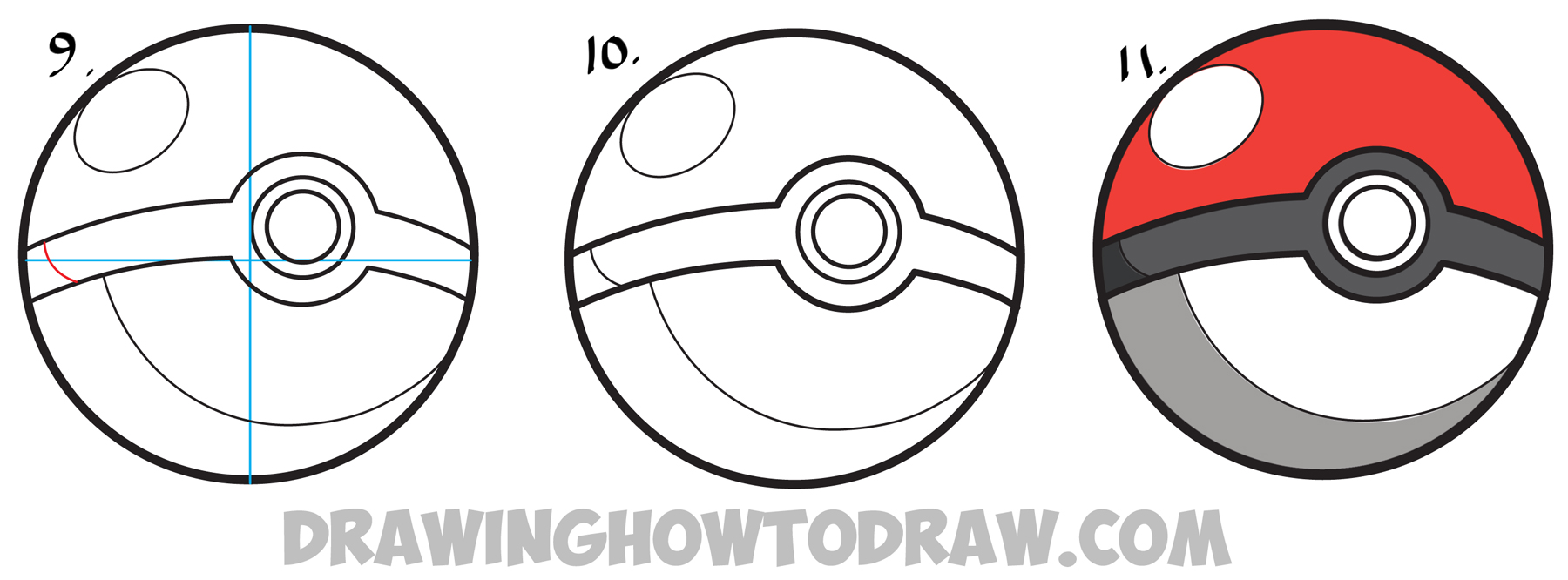How to draw a pokeball from pokemon easy step by step drawing learn how to draw a pokeball from pokemon simple steps drawing lesson biocorpaavc Choice Image