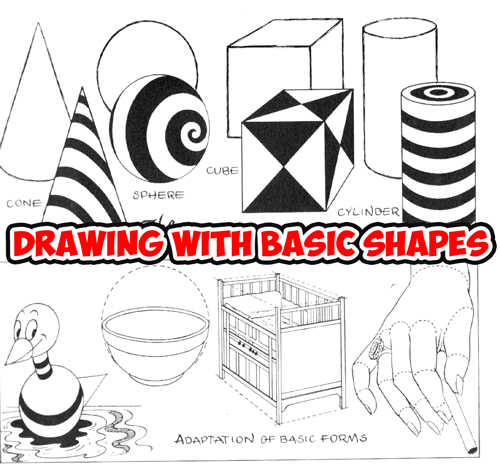 Drawing Using Lines And Shapes : Geometrical shapes archives how to draw step by