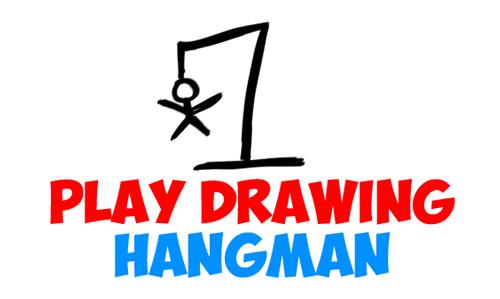 play drawing games - free drawing hangman game sheets