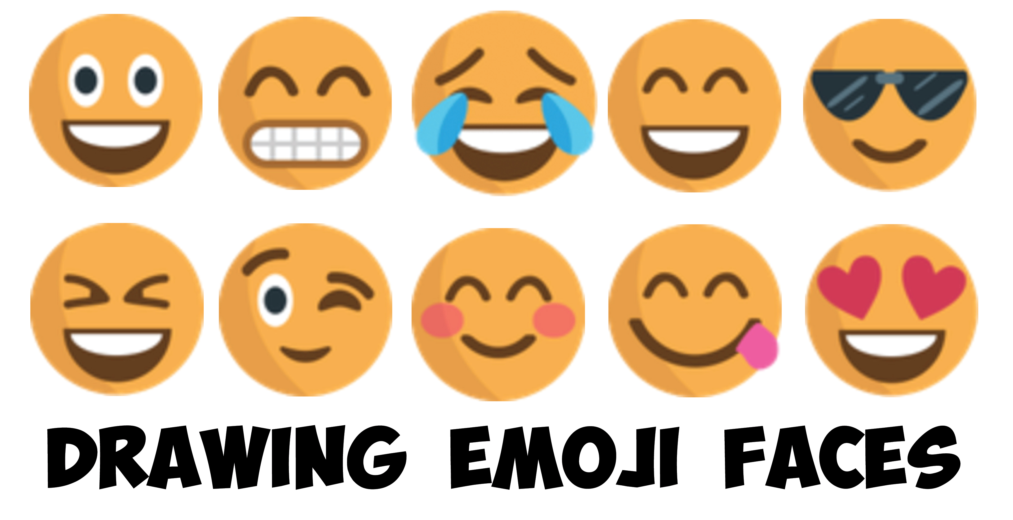 Our New Kids Drawing Book : How To Draw Emojis And Emoji Faces