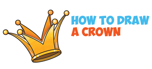 How to Draw a Crown - Drawing Cartoon Crowns - Easy Step by Step Drawing Tutorial for Kids