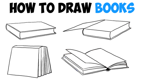 Learn How to Draw Books in 4 Different Angles / Perspectives (Open / Closed etc) - Easy Step by Step Drawing Tutorial