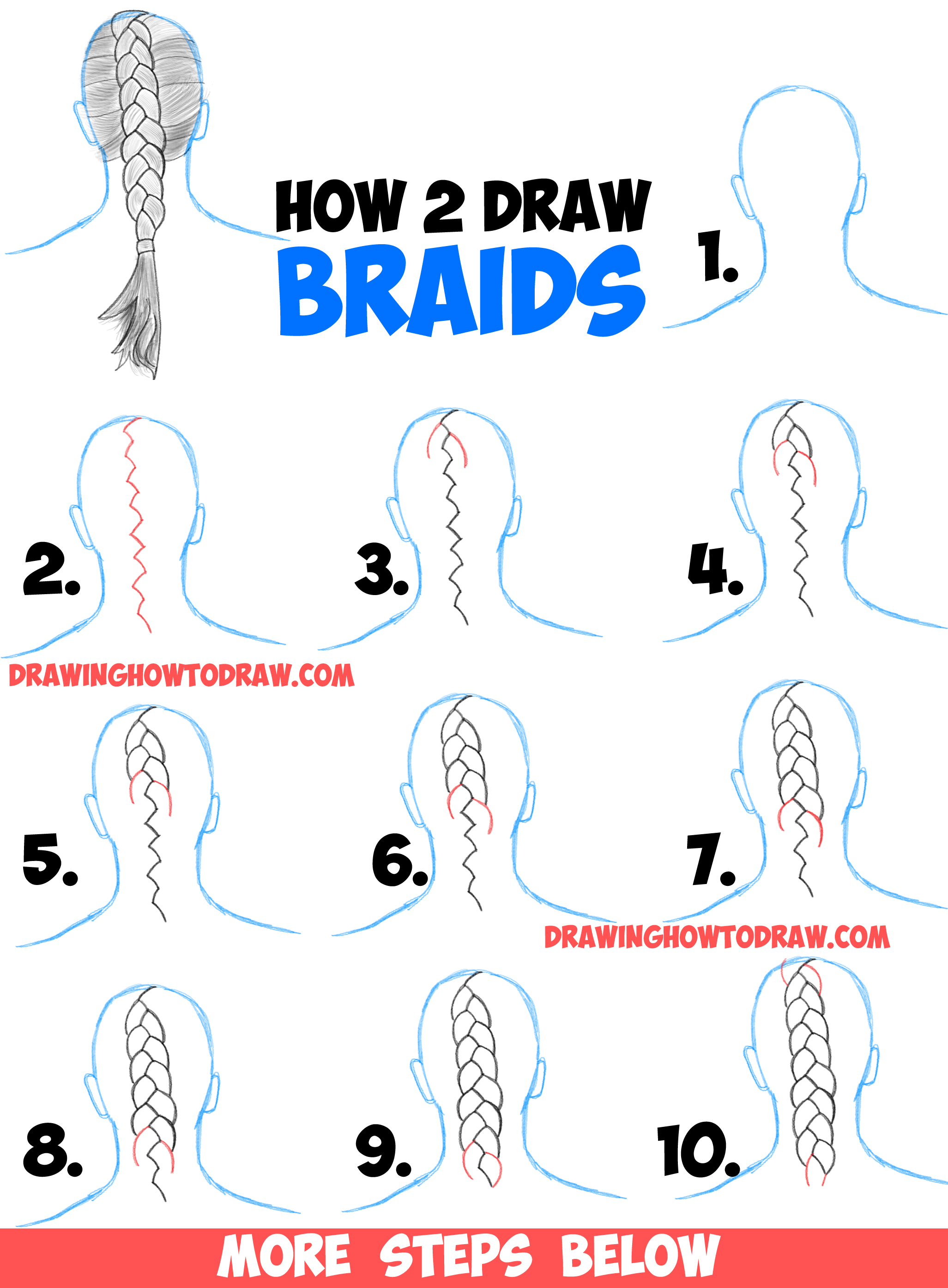Uncategorized Easy Step By Step Drawing how to draw braids with easy step by drawing tutorial tutorial
