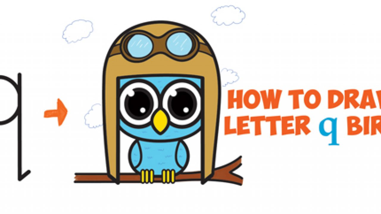 How To Draw Cute Cartoon Birds Owls From Lowercase Letter