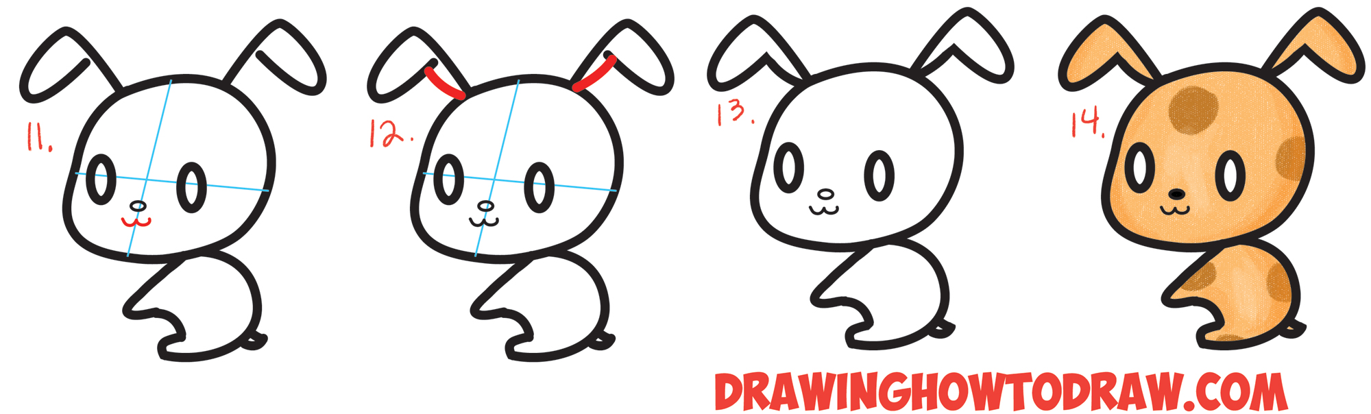 How to Draw a Cute Chibi / Kawaii Cartoon #3 Shape Puppy Doggy