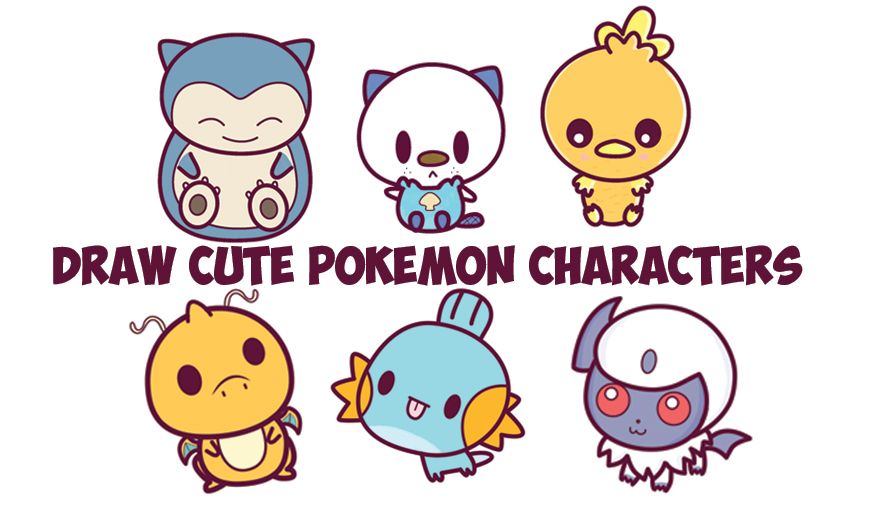 how to draw cute baby chibi pokemons huge kawaii pokemon tutorial guide - Small Drawings For Kids