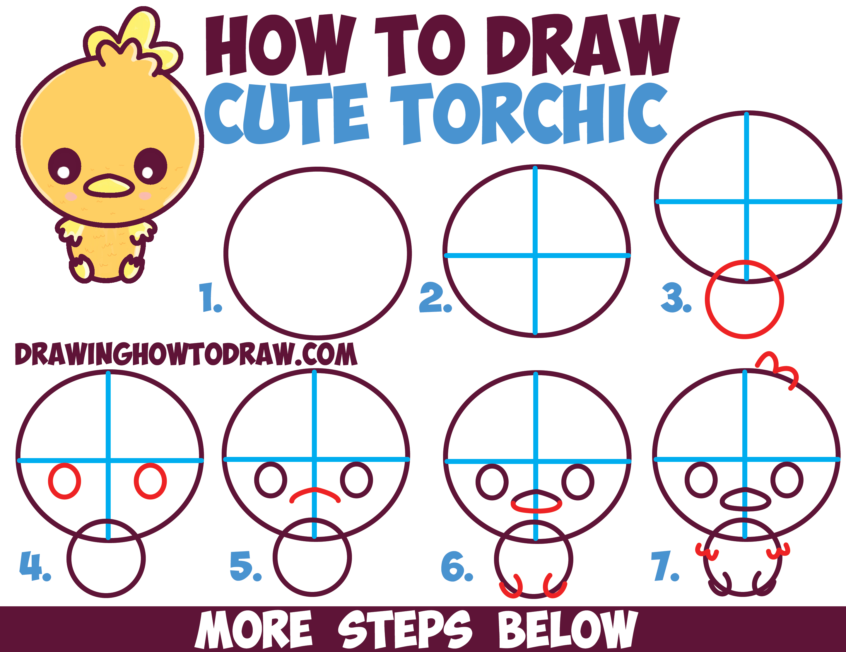 Torchic and mudkip drawings pokemon images pokemon images for Free online drawing lessons step by step