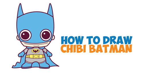 How to Draw Cute Chibi Batman from DC Comics in Easy Step ...