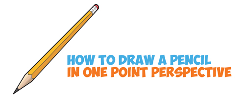 How to Draw Realistic Pencils Using One Point Perspective Techniques - Easy Step by Step Drawing Tutorial