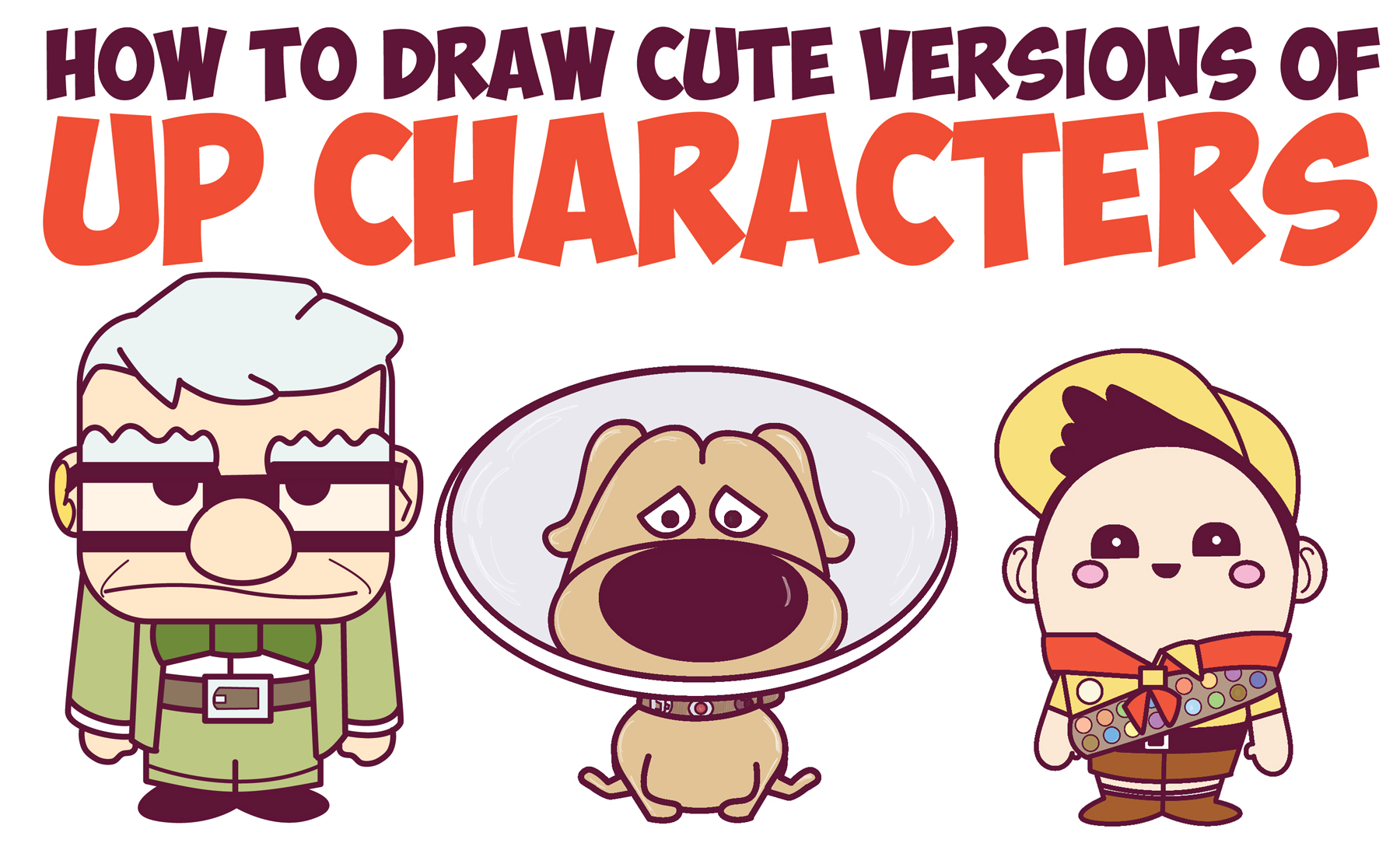 How to Draw Up Characters (Cute Chibi Kawaii) In Easy Steps for Kids