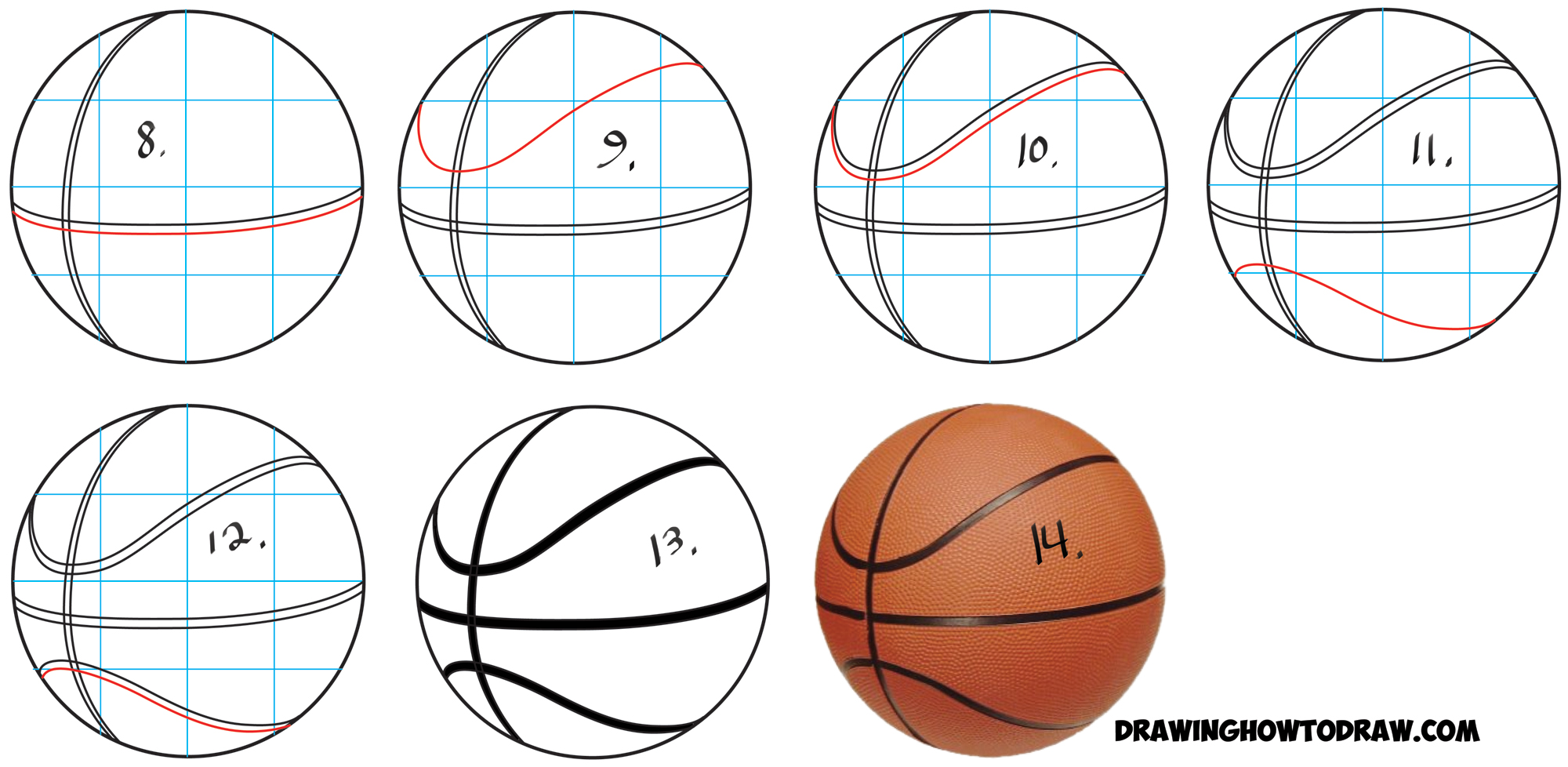 Line Drawing Basketball : How to draw a basketball in easy step by drawing