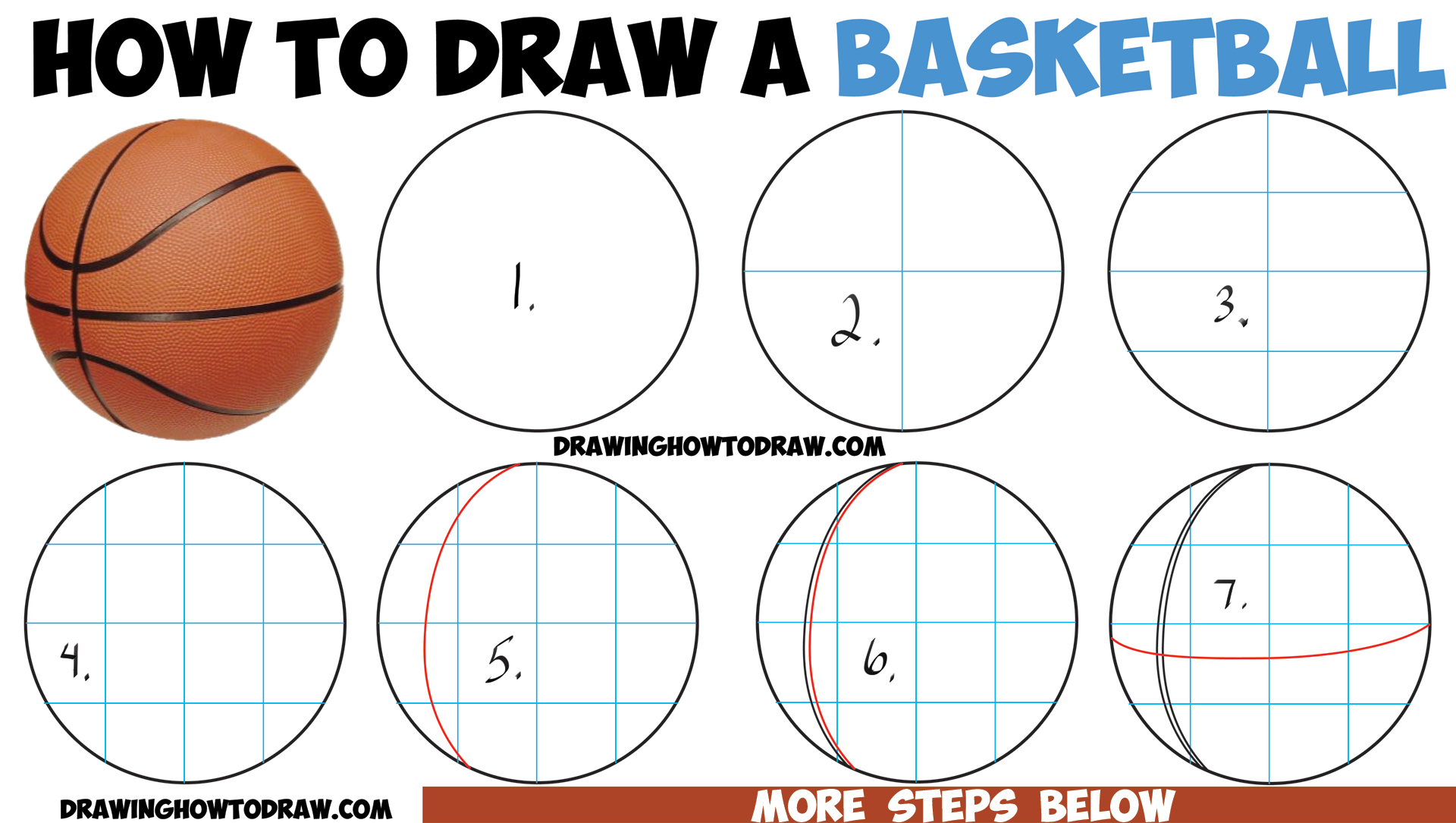How to draw a basketball in easy step by step drawing for Learn drawing online step by step