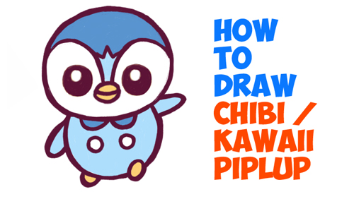 How to Draw Chibi / Kawaii Piplup