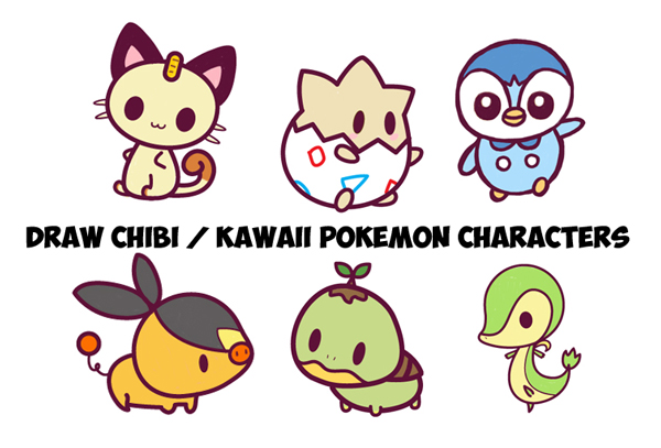 Learn How to Draw Kawaii Chibi Pokemons - Huge Chibi Pokemon Guide