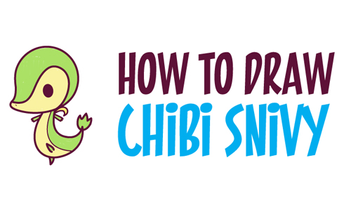 How to Draw Chibi / Kawaii Snivy