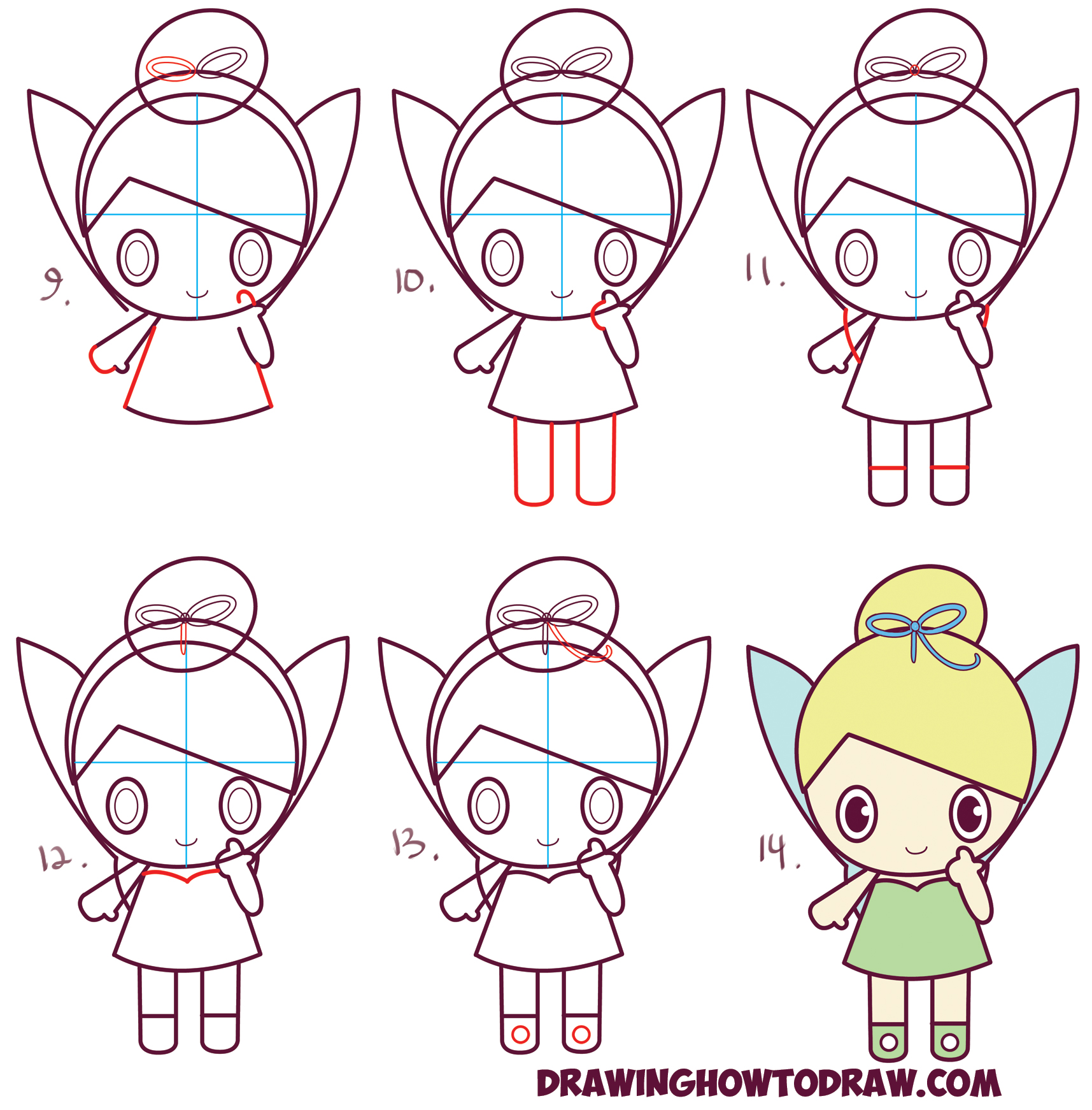 Uncategorized Disney Drawings Step By Step how to draw chibi tinkerbell the disney fairy in easy step by learn cute baby ish kawaii style tinkerbell