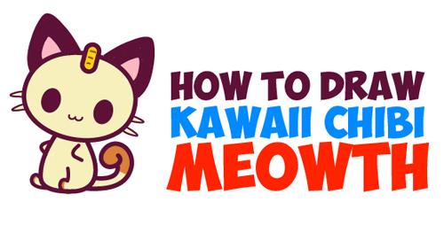 How to Draw Chibi / Kawaii Meowth
