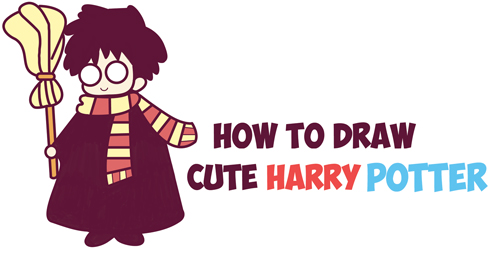 Kawaii Harry Potter Archives How To Draw Step By Step Drawing