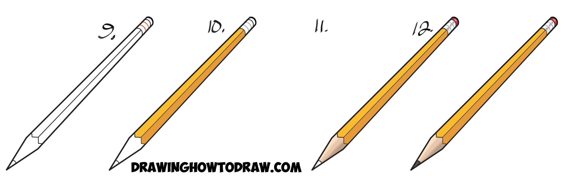 How to draw a pencil 73
