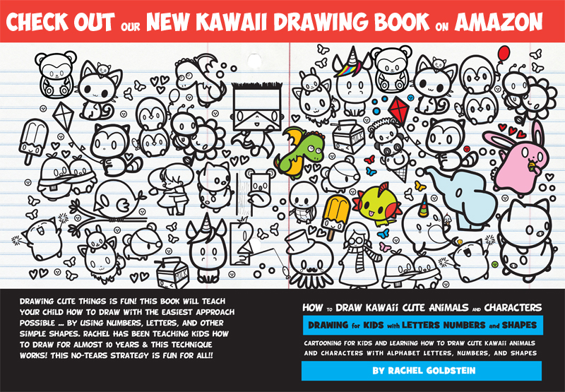 learn how to draw kawaii and cute animals with kids drawing book