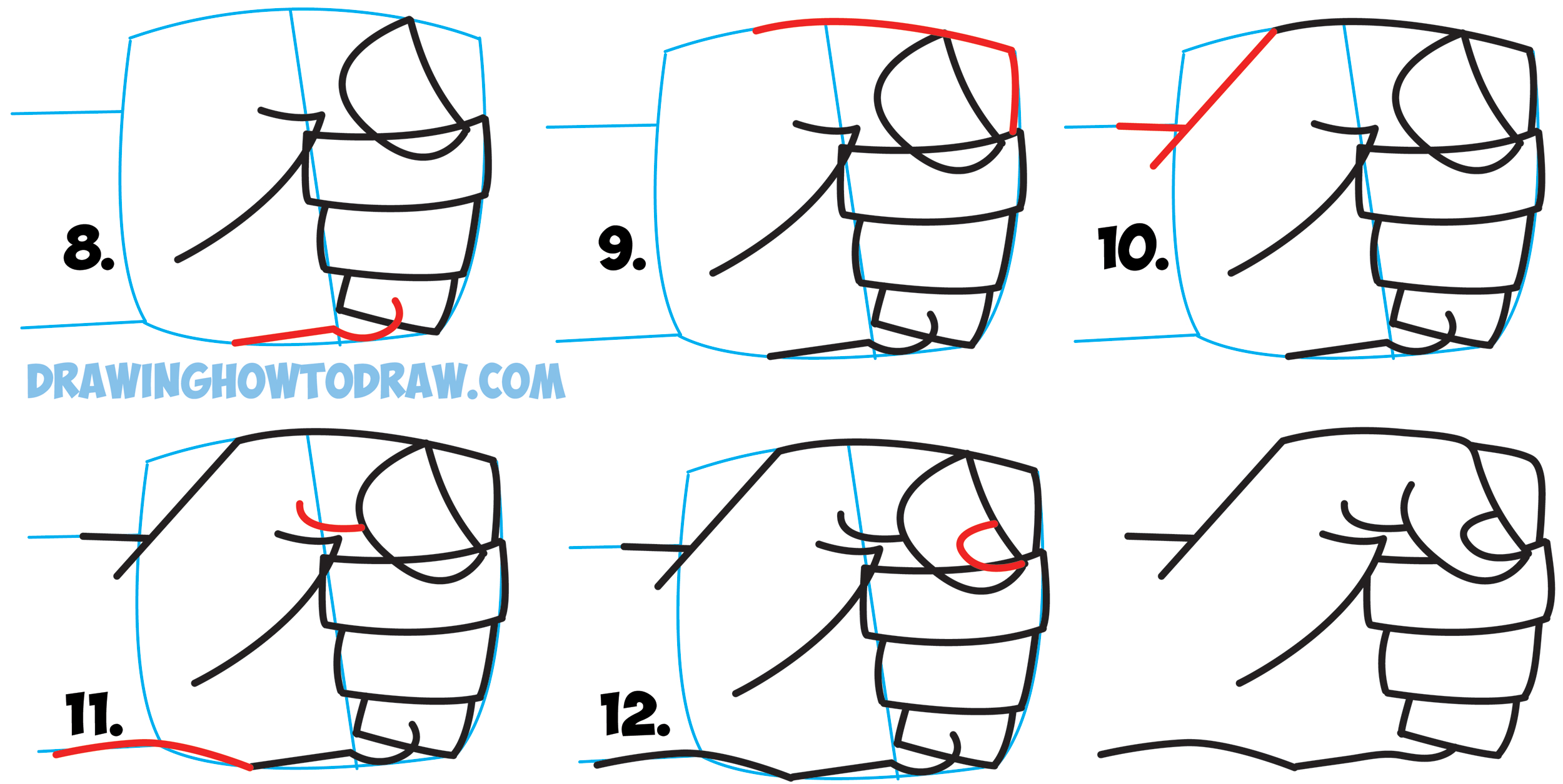 Learn How to Draw Cartoon Fists Side View Pounding Down : Drawing Cartoon Clenched Fists : Easy Step by Step Drawing Tutorial