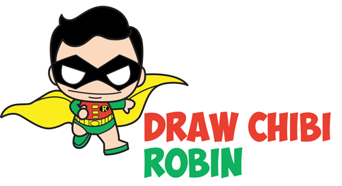 How To Draw Cute Kawaii Chibi Robin From Dc Comics Batman