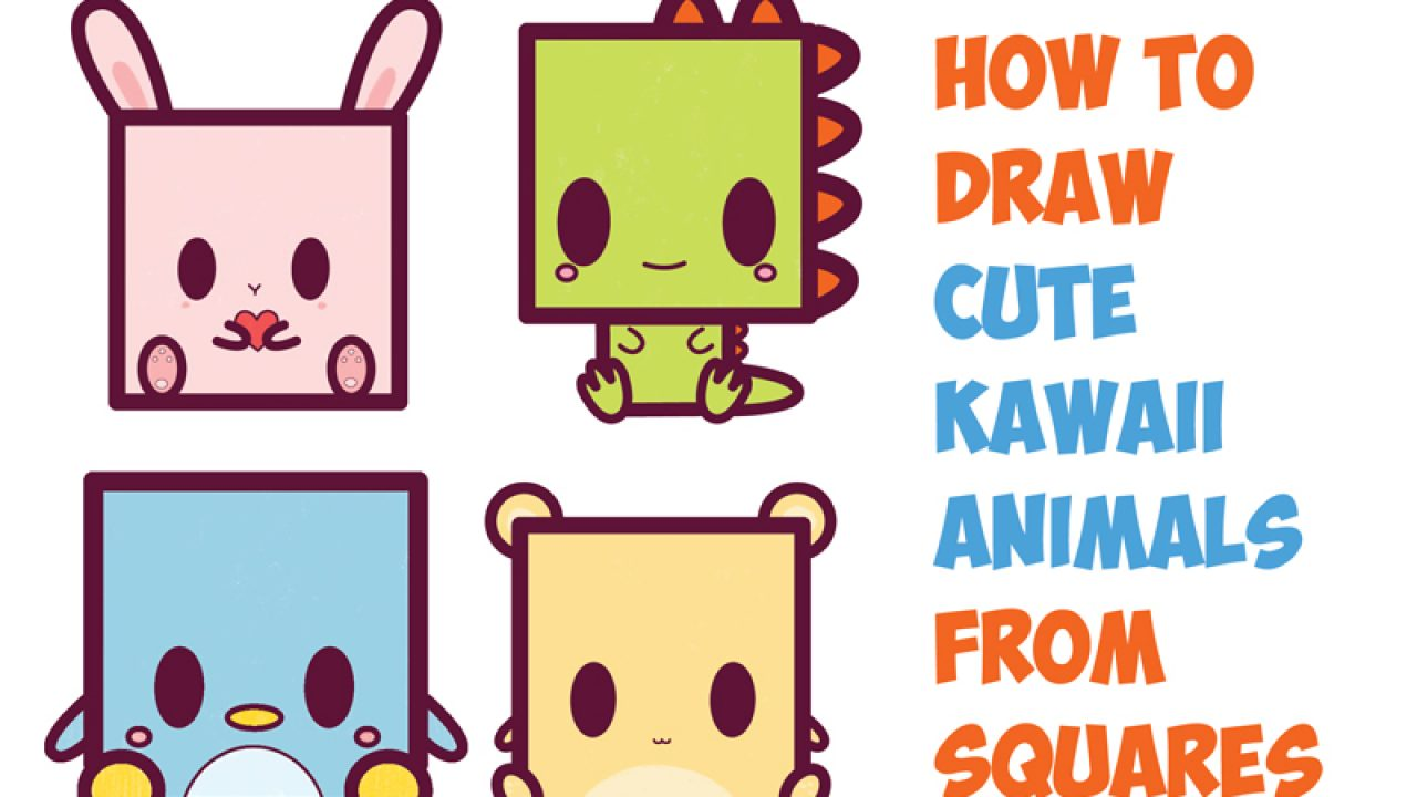 How To Draw Cute Kawaii Chibi Cartoon Characters From The Square