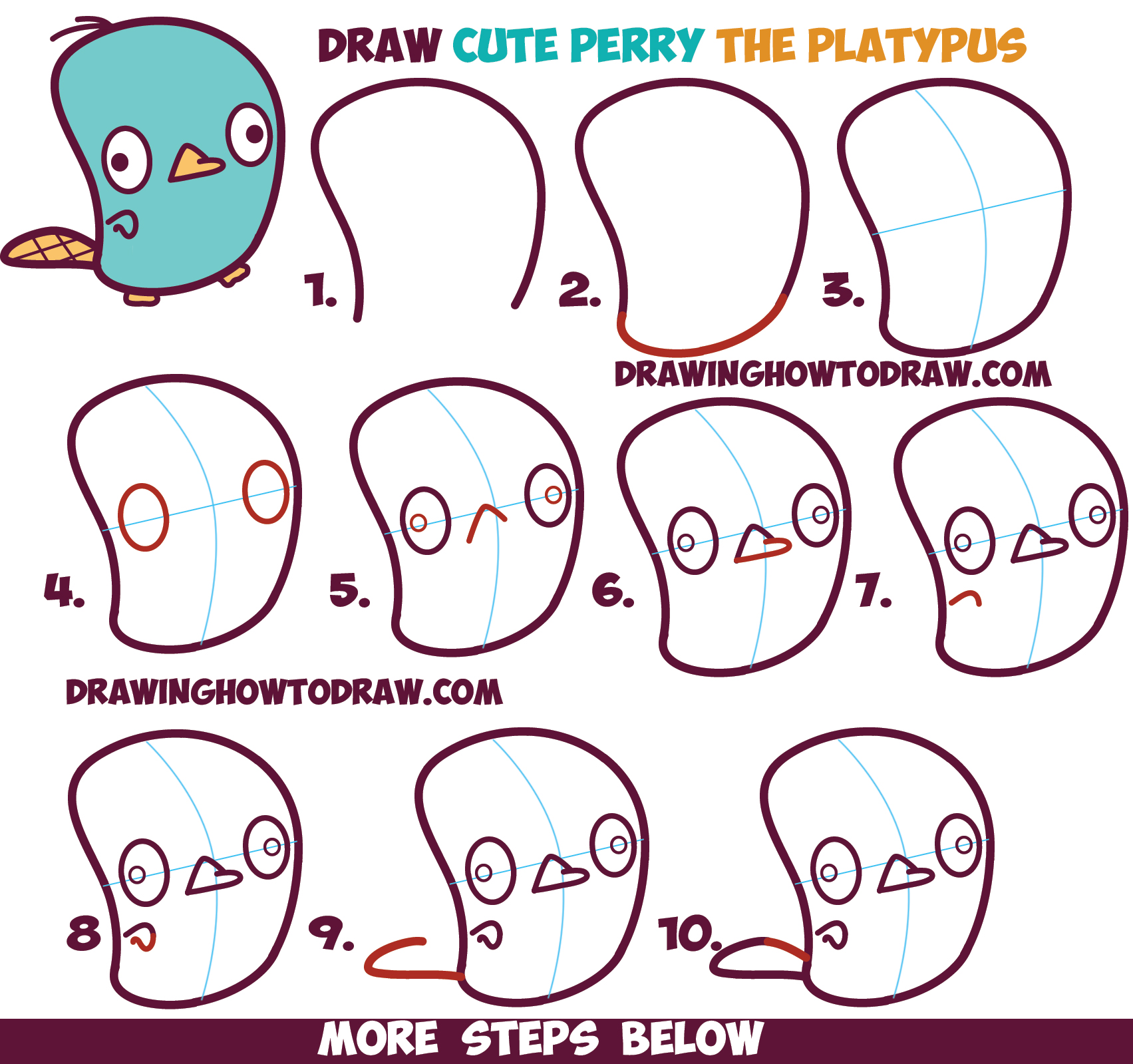kawaii drawings step by step