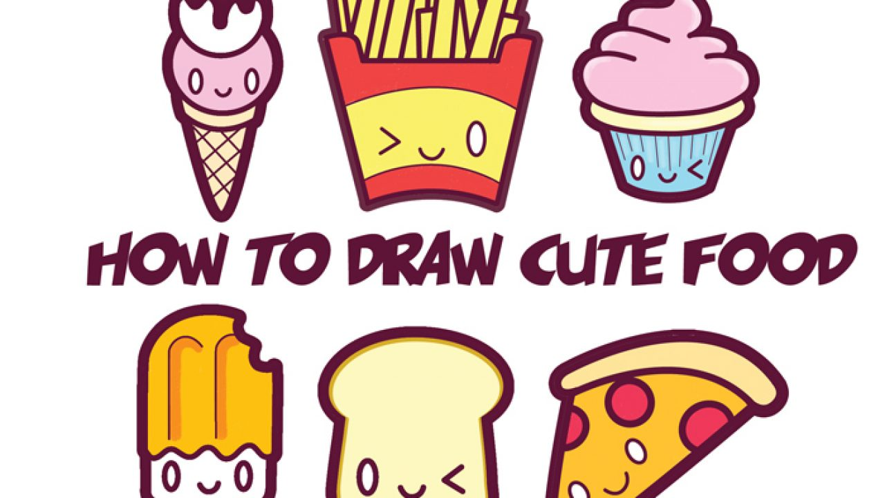How To Draw Cute Kawaii Food Easy Step By Step Drawing Tutorial For Kids How To Draw Step By Step Drawing Tutorials