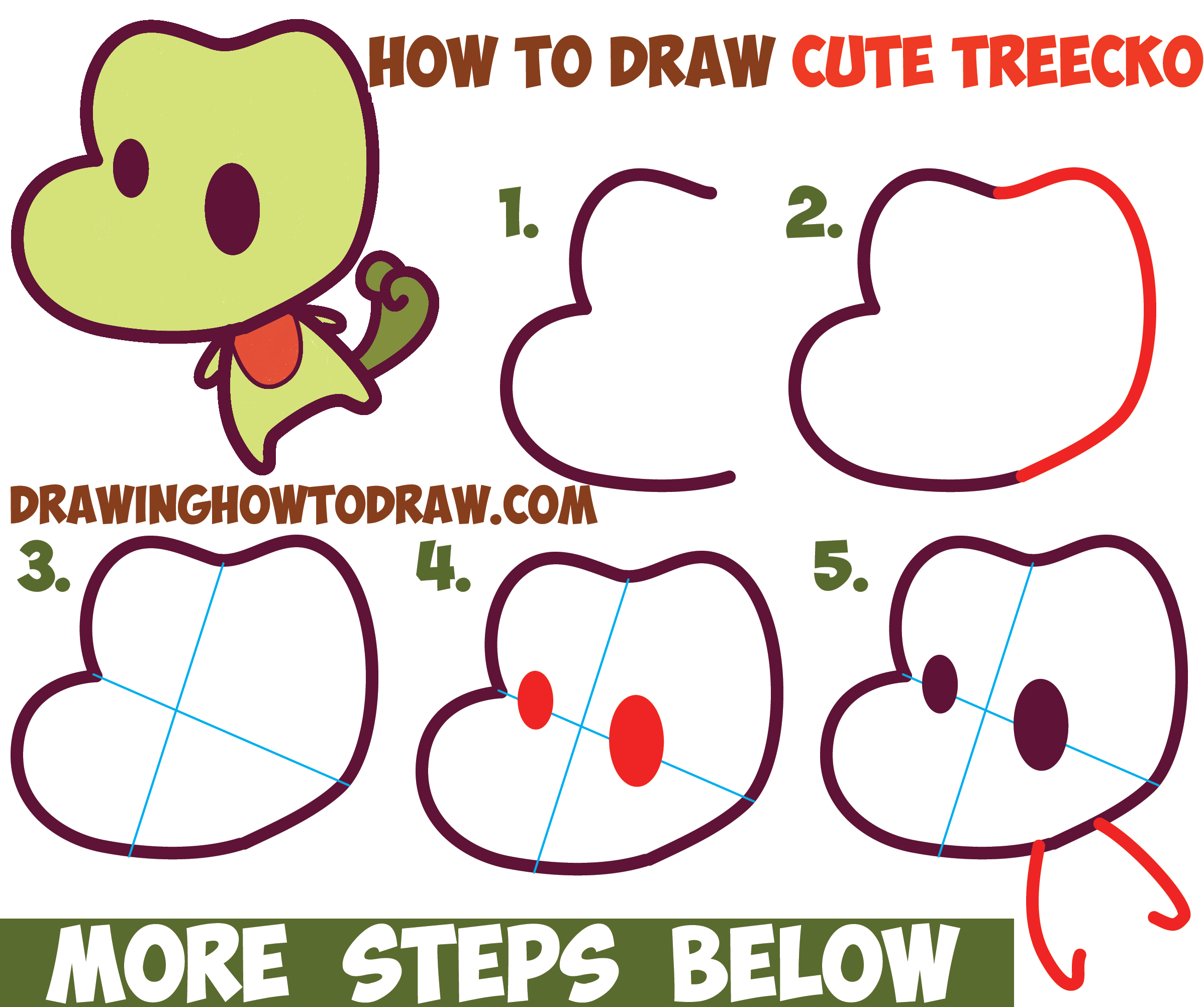 Pokemon treecko drawings images pokemon images for How to draw things step by step for kids