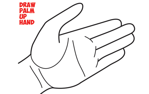 How to draw hands open palm drawing cartoon open palmed hands easy steps drawing lesson for beginners how to draw step by step drawing tutorials