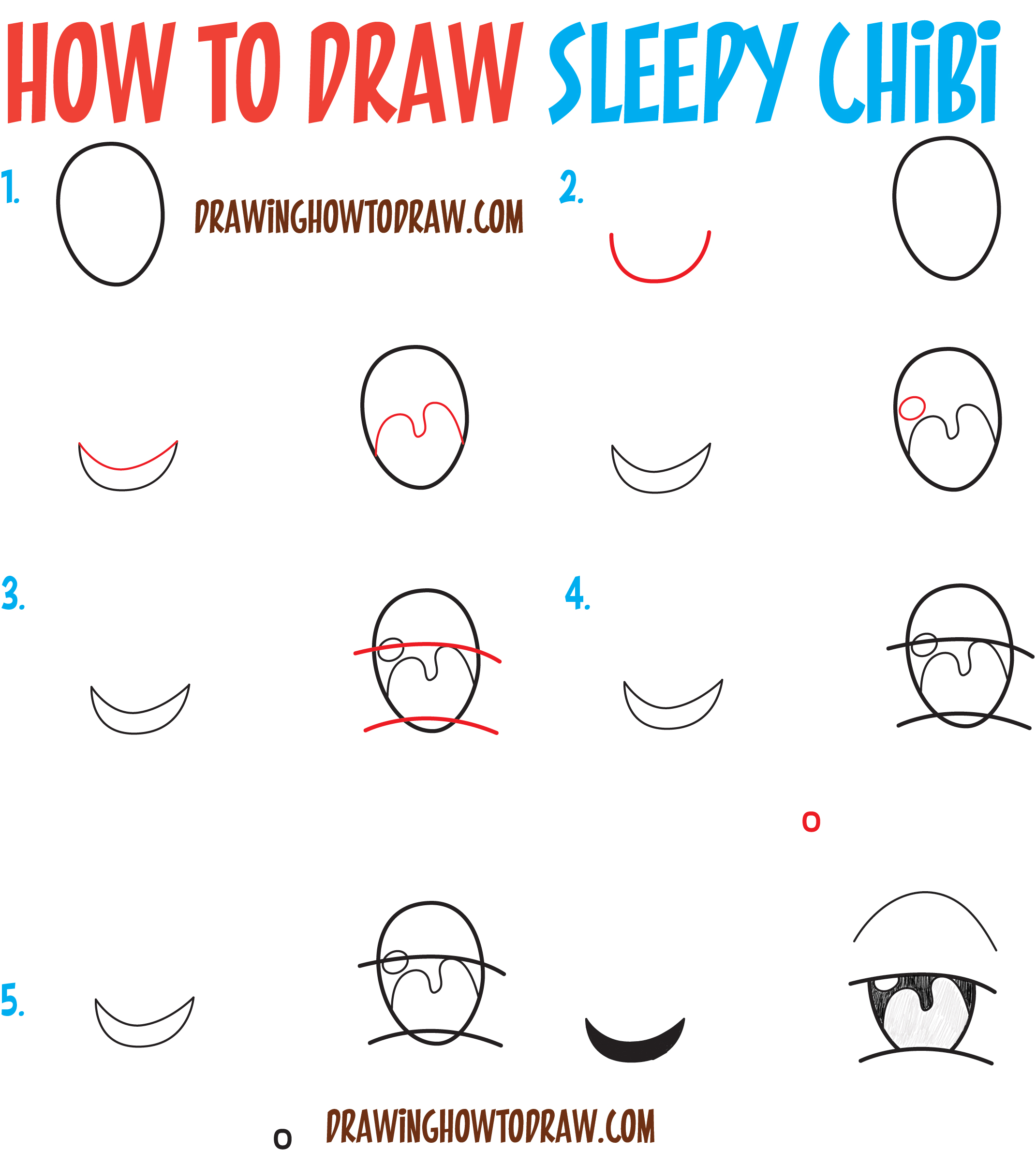 How to draw tired sleepy exhausted chibi expressions for How to make doodle art