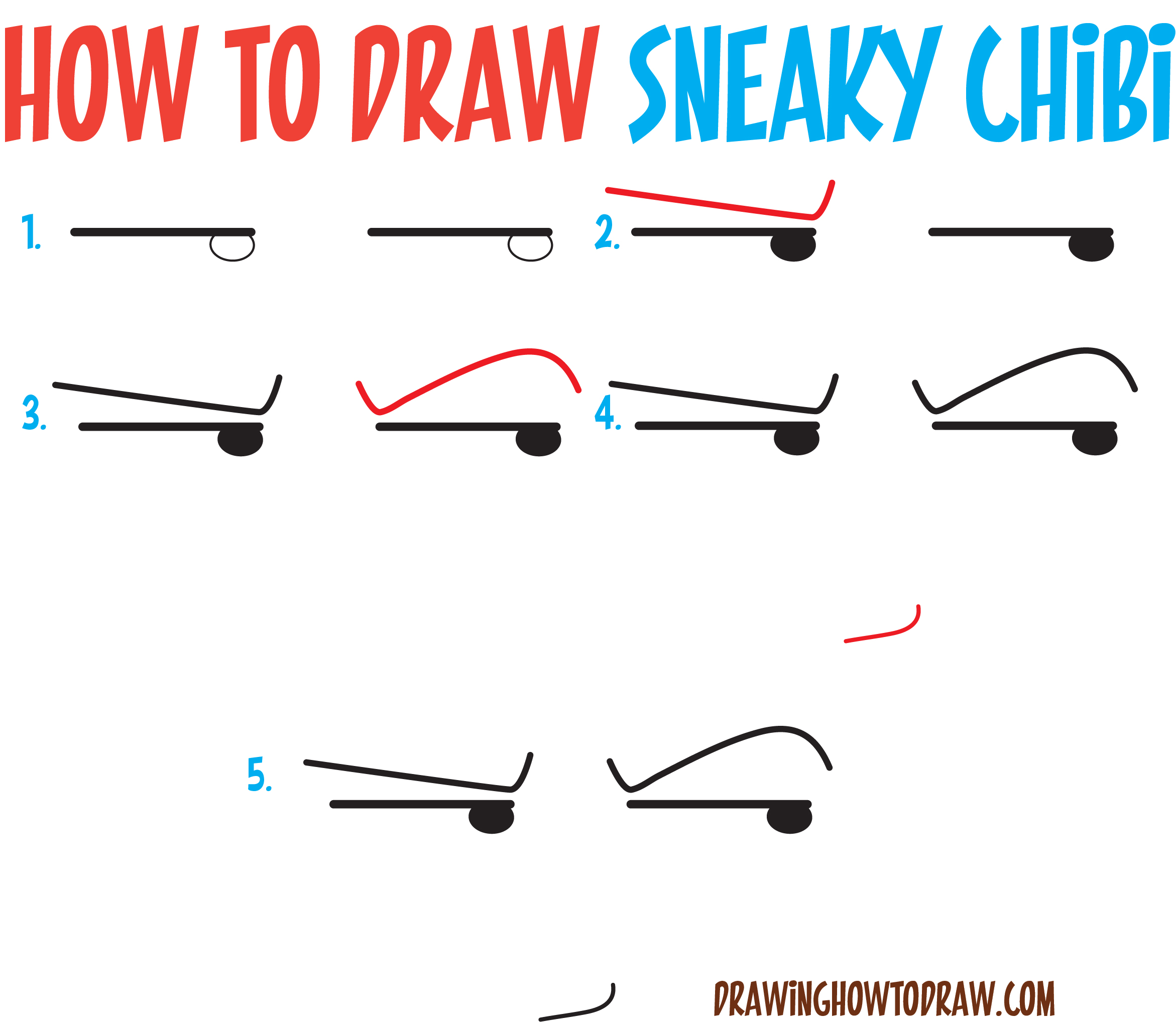 How to Draw Sneaky / Devious / Evil Chibi Expressions / Emotions in Easy Step by Step Drawing Tutorial for Beginners