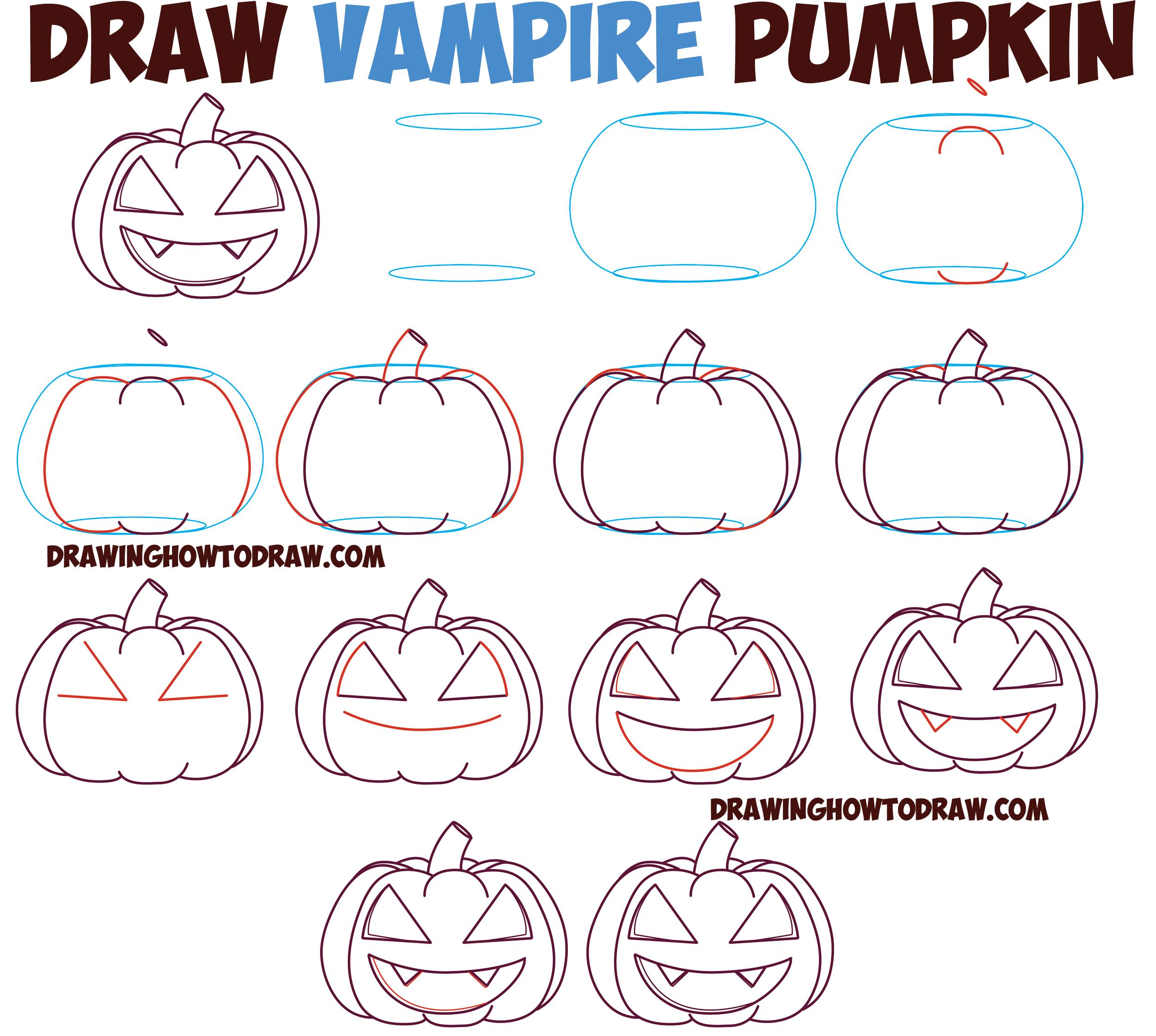 Jack O'lantern : Evil Vampire Best How To Draw