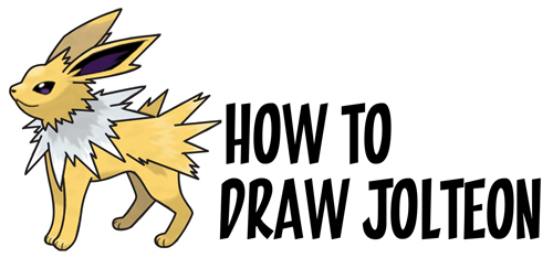 Learn How to Draw Jolteon from Pokemon and Pokemon Go Simple Steps Drawing Lesson for Kids