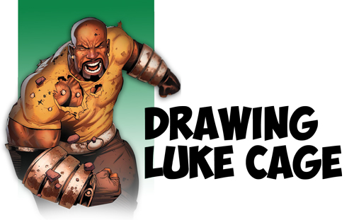 How to Draw Luke Cage from Marvel and Netflix's Luke Cage Series in Comics Style - Step by Step Drawing Tutorial