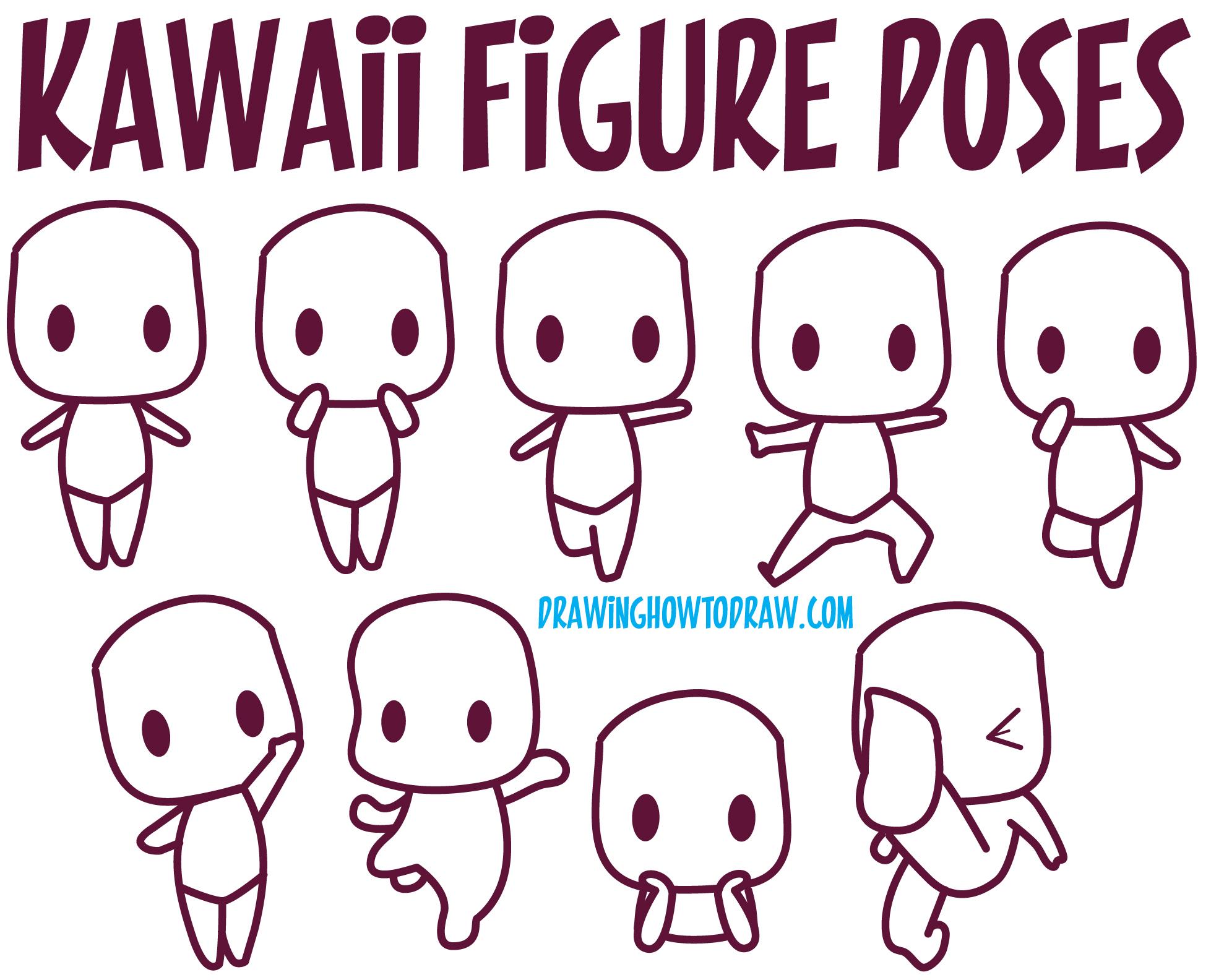 A Reference to Kawaii Bodies / Kawaii Body Poses