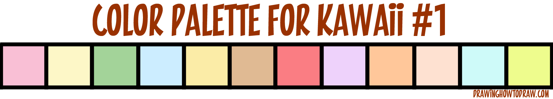 Colors to Use in Your Kawaii Drawings (Color Palette)